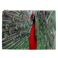 Red Peacock Cosmetic Bag (XXL)