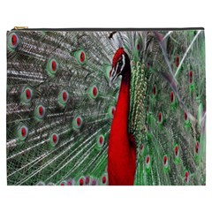 Red Peacock Cosmetic Bag (XXXL)