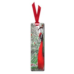 Red Peacock Small Book Marks