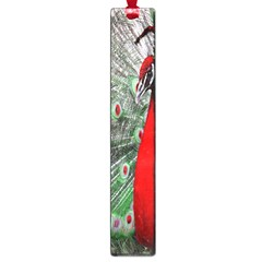 Red Peacock Large Book Marks