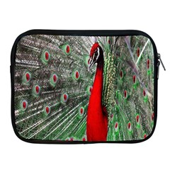 Red Peacock Apple iPad 2/3/4 Zipper Cases