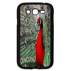 Red Peacock Samsung Galaxy Grand DUOS I9082 Case (Black)