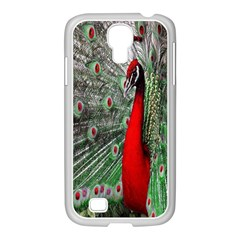 Red Peacock Samsung GALAXY S4 I9500/ I9505 Case (White)