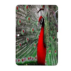 Red Peacock Samsung Galaxy Tab 2 (10 1 ) P5100 Hardshell Case