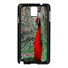 Red Peacock Samsung Galaxy Note 3 N9005 Case (black)