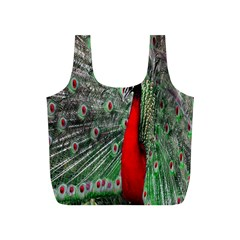 Red Peacock Full Print Recycle Bags (s)