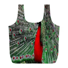 Red Peacock Full Print Recycle Bags (l)