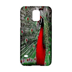 Red Peacock Samsung Galaxy S5 Hardshell Case
