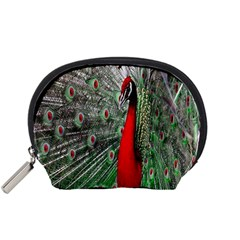 Red Peacock Accessory Pouches (Small)