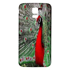 Red Peacock Samsung Galaxy S5 Back Case (White)