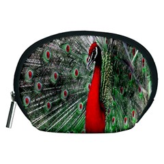 Red Peacock Accessory Pouches (Medium)