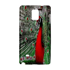 Red Peacock Samsung Galaxy Note 4 Hardshell Case