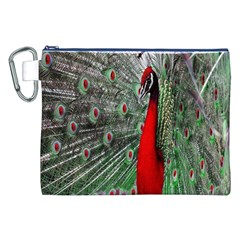 Red Peacock Canvas Cosmetic Bag (XXL)