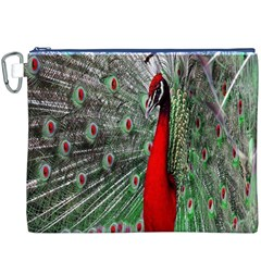 Red Peacock Canvas Cosmetic Bag (XXXL)