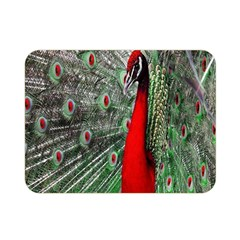 Red Peacock Double Sided Flano Blanket (Mini)