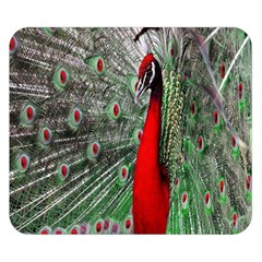Red Peacock Double Sided Flano Blanket (Small)