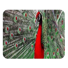 Red Peacock Double Sided Flano Blanket (large)