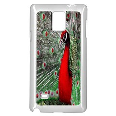 Red Peacock Samsung Galaxy Note 4 Case (white)