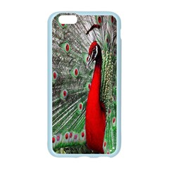 Red Peacock Apple Seamless iPhone 6/6S Case (Color)