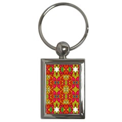 Abstract Background Design With Doodle Hearts Key Chains (Rectangle)