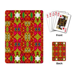 Abstract Background Design With Doodle Hearts Playing Card