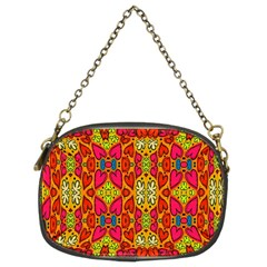 Abstract Background Design With Doodle Hearts Chain Purses (two Sides)