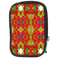 Abstract Background Design With Doodle Hearts Compact Camera Cases