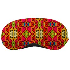 Abstract Background Design With Doodle Hearts Sleeping Masks