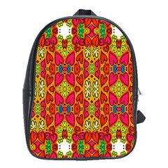 Abstract Background Design With Doodle Hearts School Bags(Large)