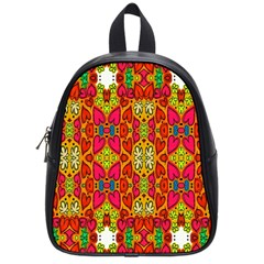 Abstract Background Design With Doodle Hearts School Bags (Small)