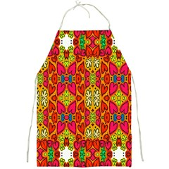 Abstract Background Design With Doodle Hearts Full Print Aprons