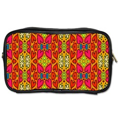 Abstract Background Design With Doodle Hearts Toiletries Bags