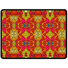 Abstract Background Design With Doodle Hearts Fleece Blanket (large)