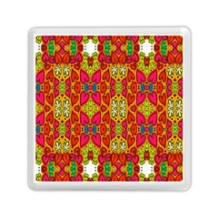 Abstract Background Design With Doodle Hearts Memory Card Reader (square)