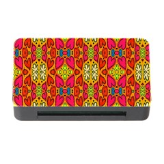 Abstract Background Design With Doodle Hearts Memory Card Reader With Cf