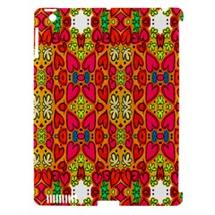Abstract Background Design With Doodle Hearts Apple iPad 3/4 Hardshell Case (Compatible with Smart Cover)