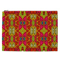 Abstract Background Design With Doodle Hearts Cosmetic Bag (XXL)