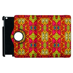 Abstract Background Design With Doodle Hearts Apple iPad 3/4 Flip 360 Case