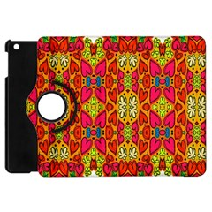 Abstract Background Design With Doodle Hearts Apple iPad Mini Flip 360 Case