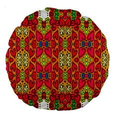 Abstract Background Design With Doodle Hearts Large 18  Premium Round Cushions
