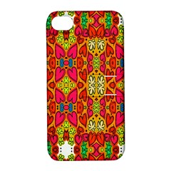 Abstract Background Design With Doodle Hearts Apple Iphone 4/4s Hardshell Case With Stand