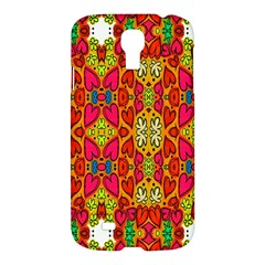 Abstract Background Design With Doodle Hearts Samsung Galaxy S4 I9500/I9505 Hardshell Case