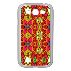 Abstract Background Design With Doodle Hearts Samsung Galaxy Grand DUOS I9082 Case (White)