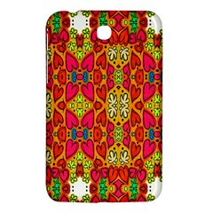 Abstract Background Design With Doodle Hearts Samsung Galaxy Tab 3 (7 ) P3200 Hardshell Case