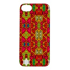 Abstract Background Design With Doodle Hearts Apple iPhone 5S/ SE Hardshell Case