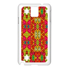 Abstract Background Design With Doodle Hearts Samsung Galaxy Note 3 N9005 Case (White)