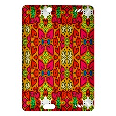 Abstract Background Design With Doodle Hearts Amazon Kindle Fire Hd (2013) Hardshell Case