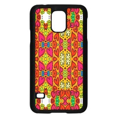 Abstract Background Design With Doodle Hearts Samsung Galaxy S5 Case (Black)
