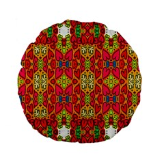 Abstract Background Design With Doodle Hearts Standard 15  Premium Flano Round Cushions