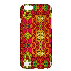 Abstract Background Design With Doodle Hearts Apple iPhone 6 Plus/6S Plus Hardshell Case